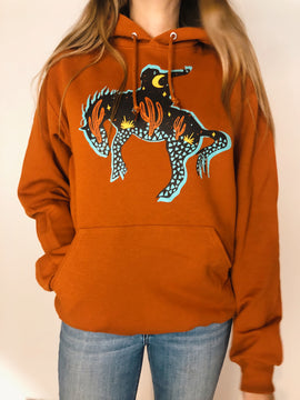 Midnight Cowboy Hoodie - Rusty Orange