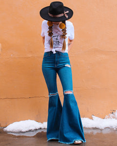 Sadie Distressed Bell Bottoms