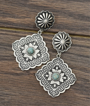 Tiered Concho Earrings
