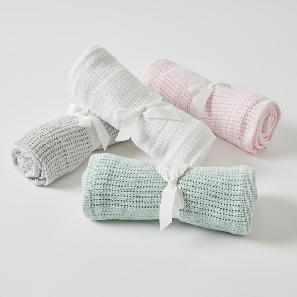 BABY COTTON CELLULAR BLANKET
