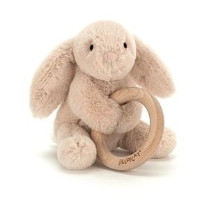 Jellycat | Shooshu Wooden Ring Toy Bunny