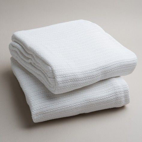 Cotton Cot Blanket | White