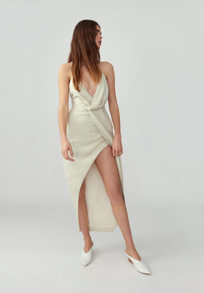 Asymmetrical Drape Dress