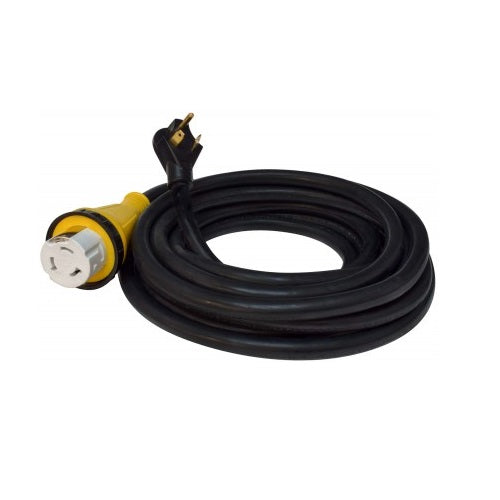 25' 30AMP Male Plug to 50AMP Female Twist Lock