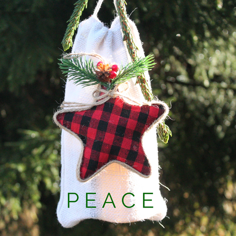 P E A C E  Christmas Ornament Keepsake