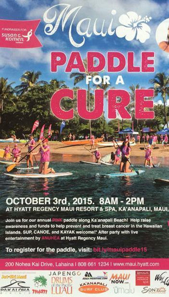 Pakaloha Paddles For The Cure