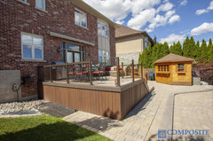 composite decking tropical walnut