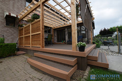composite deck caramel borders