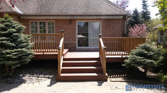 composite deck red bordeaux