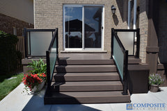 CompositeDeckDirect small PVC Deck with stairs