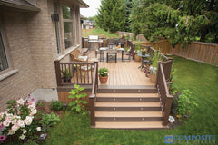 brown synthetic decking