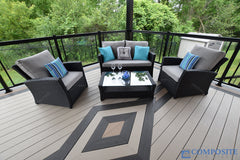 grey artificial wood decking