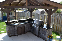 vCompositeDeckDirect PVC Deck with stone bbq