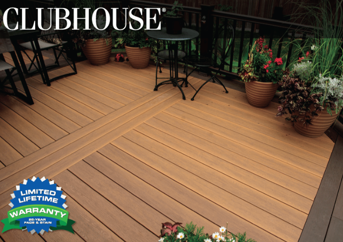 Clubhouse Premium PVC Decking - from $5.10/linear ft