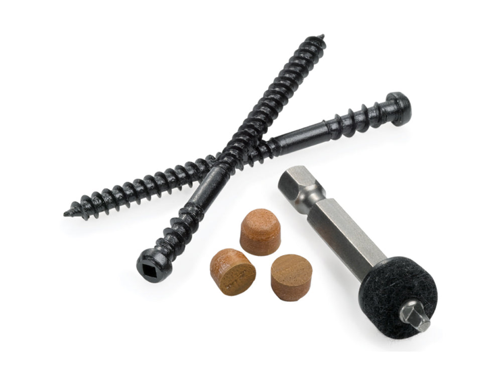 Stainless Cortex™ Plugs and Screws for Clubhouse Deck boards - 1 BOX