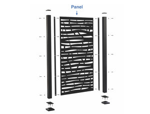 Oasis™ Privacy Screen Panel (posts and mounting brackets sold separately)