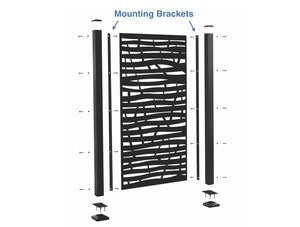 Mounting Brackets for Privacy Screen (includes 2)