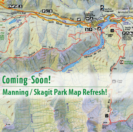 3rd Edition of Manning Park Hiking Map is Coming Soon!