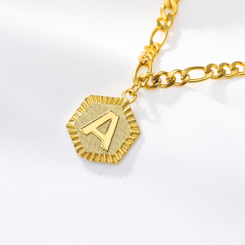 Women A-Z  Initial Gold Colored Stainless Steel Ankle Bracelet