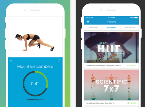 free exercise apps for women