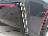 052004 Chevy Corvette C7 Stingray 2014 Rear Valance 2PC Polished Matrix Series Alum-Steel Vent Grilles