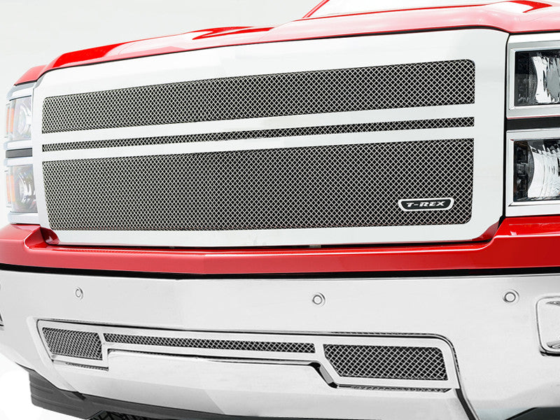 Silverado 1500 Mesh Grille Grill Replacement 2014 2015. 54118 55117