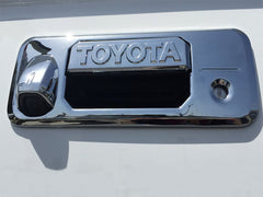 Tundra Chrome tailgate handle cover with Toyota Script 2014 2015 2016 2017