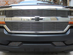 2016 Silverado 1500 Polished Billet Grille Grill Set 4Piece