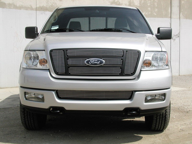 2004 2005 F150 XL STX FX4 Billet Grille Grill Overlay by GrillCraft FOR1308BAO & FOR1307BAC