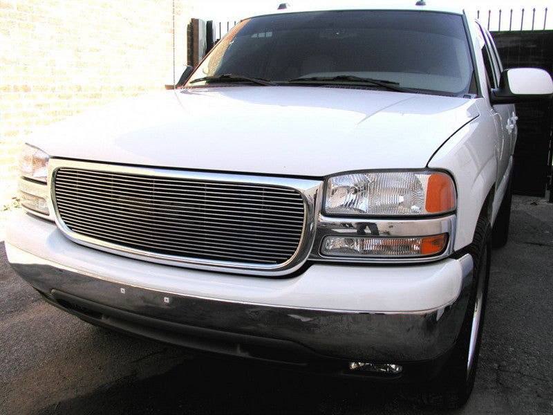 2000 2001 2002 2003 2004 2005 2006 Yukon Billet Grille Grill Overlay w/out Emblem Cutout by GrillCraft GMC2012BAO