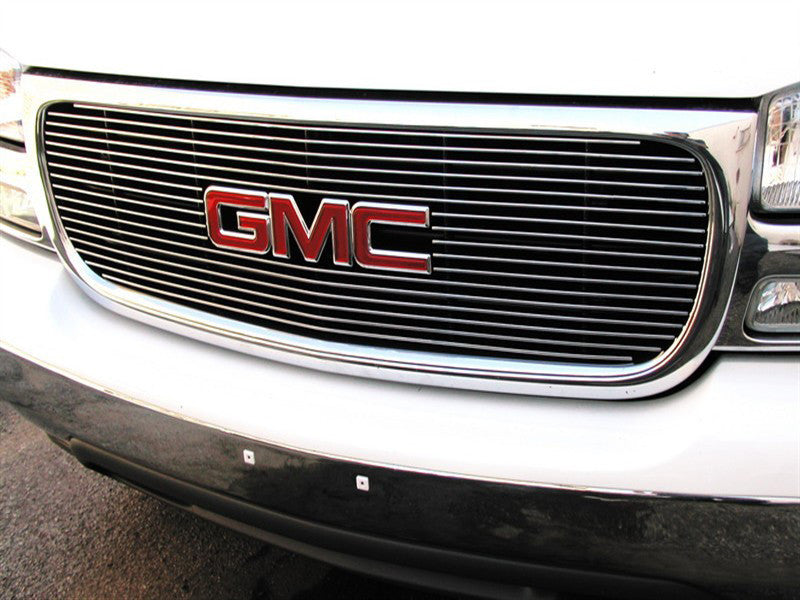2000 2001 2002 2003 2004 2005 2006 Yukon Billet Grille Grill Overlay with Emblem Cutout by GrillCraft GMC2014BAO