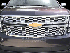 2015 2016 Chevy Tahoe Grille Grill Snap-On Chrome Overlay by CCI gi-127 iwcgi127