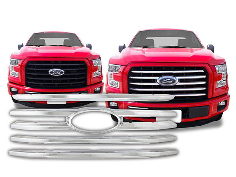 2015 2016 ford f150 grille grill snap-on chrome cci | sleek auto