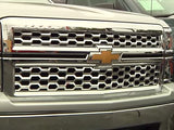 2014 2015 Silverado 1500 Grille Grill Chrome Snap-On Overlay GI-124 GI-124L
