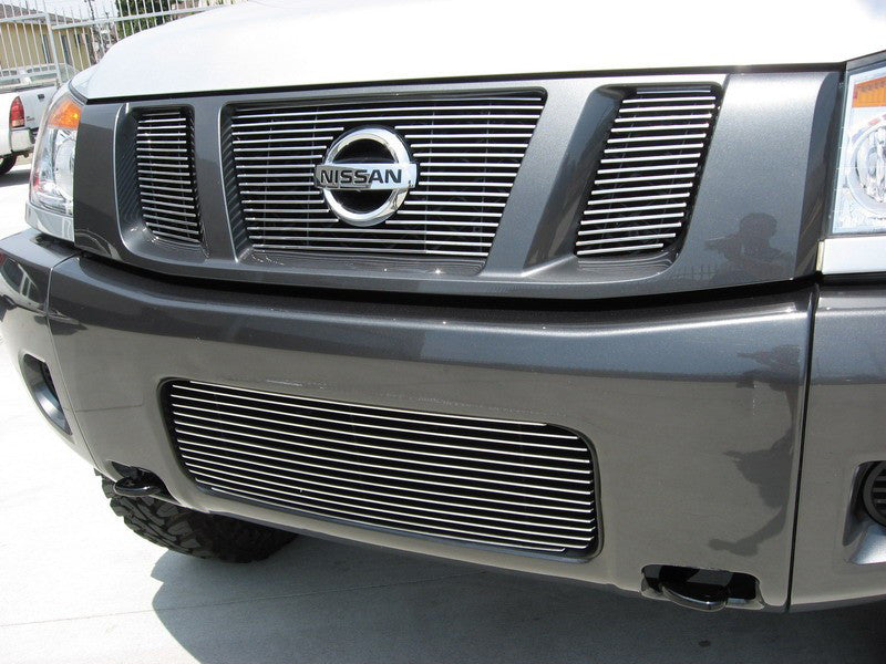 2008 2009 2010 2011 2012 2013 2014 Titan Billet Grille Grill with Emblem Cutout by GrillCraft NIS1553BAO & NIS1551BAC