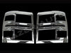 Silverado 1500 chrome head light covers 2014 2015 trim