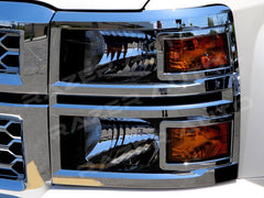 Silverado headlight covers chrome 2014 2015 trim