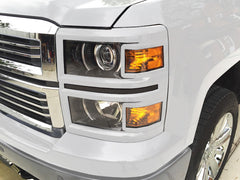2015 Silverado 1500 headlight covers 2014 trim summit white