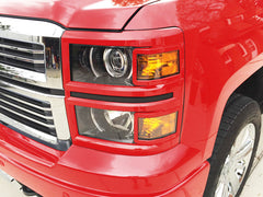 2015 Silverado 1500 headlight covers 2014 trim Victory Red