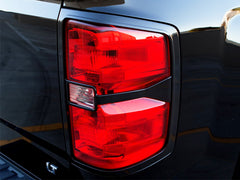 Silverado taillight covers black 2014 2015 trim