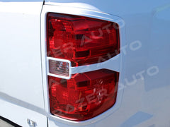 Silverado taillight covers summit white 2014 2015 trim