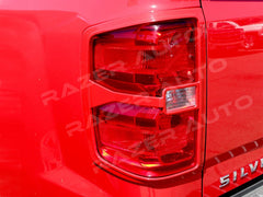 Silverado taillight covers victory red 2014 2015 trim