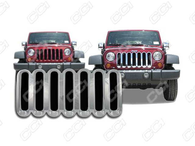 2007 2008 2009 2010 2011 2012 2013 2014 Wrangler Chrome Snap-On Grille Grill Overlay by CCI IWCGI-39