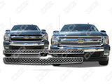 2007 2008 2009 2010 2011 2012 2013 Silverado 1500 LS | LT 2Piece Chrome Snap-On Grille Grill Overlay by CCI IWCGI-107