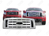 2009 2010 2011 2012 F-150 XL | STX | FX4 ABS Chrome Snap-On Grille Grill Overlay by CCI IWCGI-73