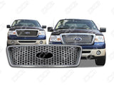 2004 2005 2006 2007 2008 F-150  XLT | Lariat Chrome Snap-On Grille Grill Overlay by CCI IWCGI-88