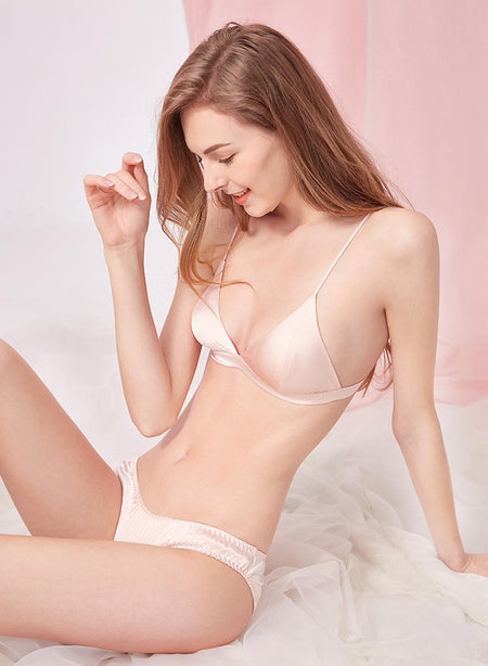 Natural Mulberry Silk Breathable Bra with Padding, Best Gift for Her