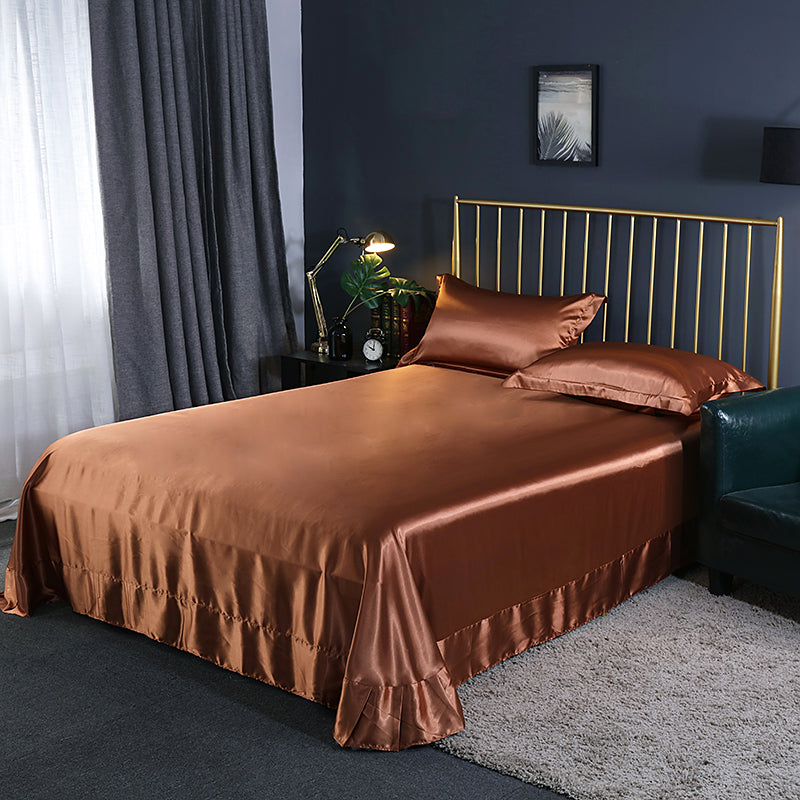 Luxury 100% Mulberry Silk Bed Sheets for Skin and Hair Care Multicolor