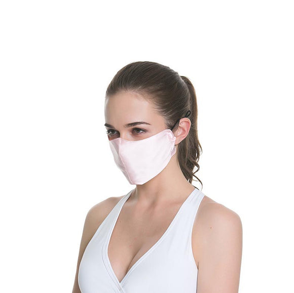 Dual-Layer Silk Breathable Mask with Adjustable Belt