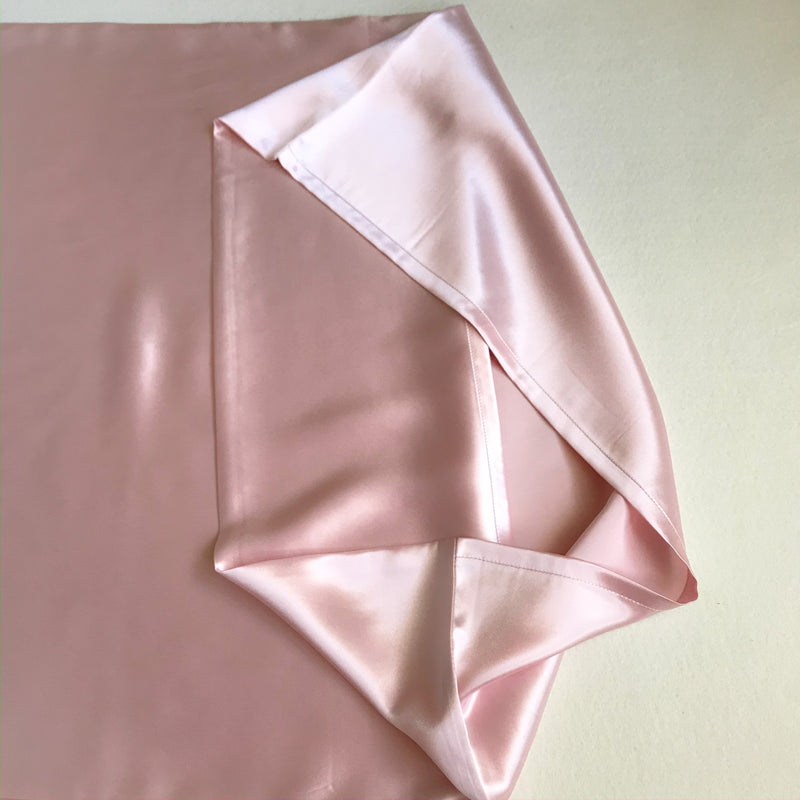 2-in-1 Mulberry Silk Sleeping Combo, Pillowcase and Eye Cover (Pink)